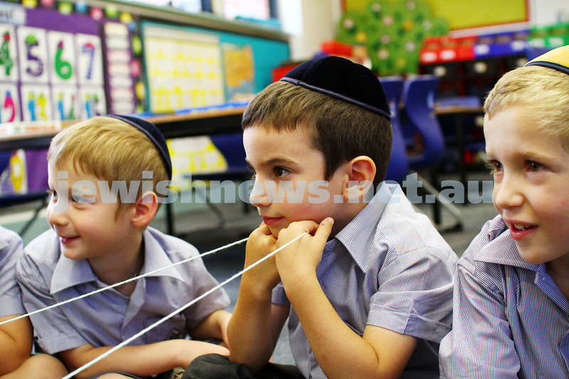 29-1-15. First day of school 2015. Yeshivah College. Photo: Peter Haskin
