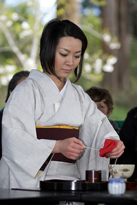 Hanami at Olinda. Tea Ceremony