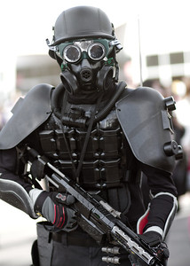 Some people came in complete suits with gas mask respirators