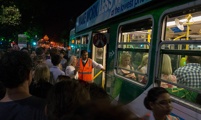 Trams totally packed