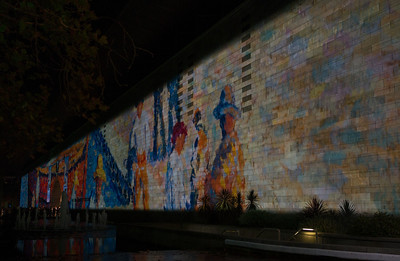 Projection on the National Gallery of Victoria