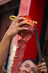 Preparing the firecrackers