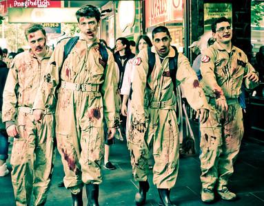 Zombies squadron on Swanston Street