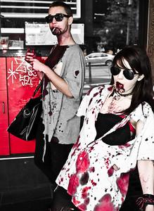 Zombie fashion on Bourke Street
