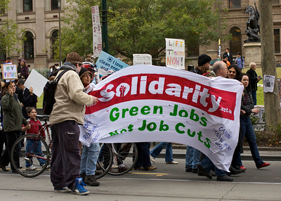 Green Protest on Swanston Street
