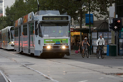 Cyclists vs Tram