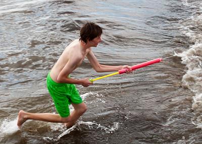 Water fun at St Kilda beach