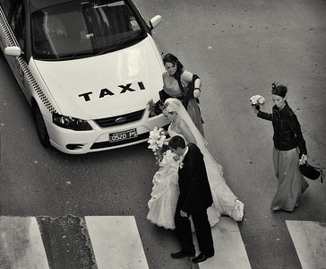 """Make way for the bride"". Melbourne CBD, June 2011."