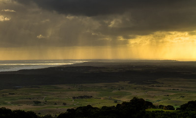 Rainy Sunset over the Mornington Peninsula. May 2011
