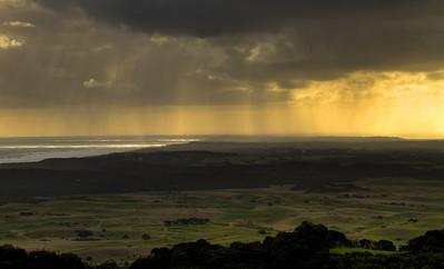 Rainy Sunset over the Mornington Peninsula. May 2011