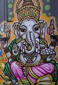 Painting of Ganesha on Hosier lane, Melbourne. Photo by Seto.