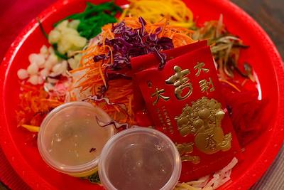 """Chinese New Year """"Lo Hei"""" : http://en.wikipedia.org/wiki/Yusheng"""