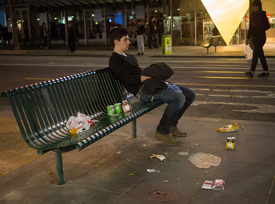 """Oblivious"". Swanston Street, June 2012"