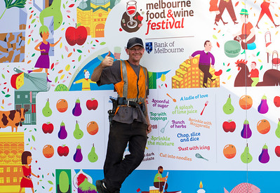 Setting up for the Melbourne Food & Wine festival. Mar 2012