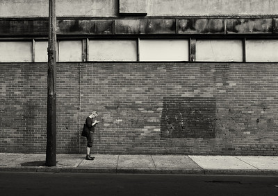 In his own world. Prahran, April, 2012.