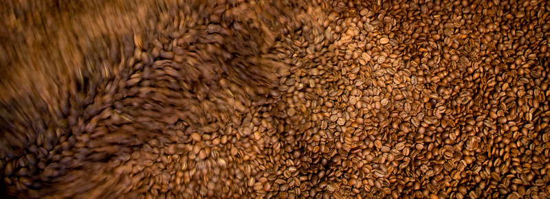 Coffee roasting away on Australia Day, Jan 2012.