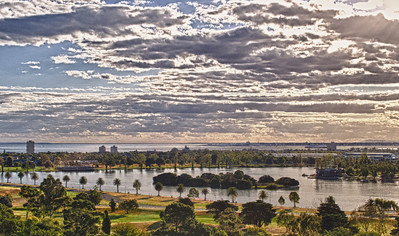 Late evening, Albert Park lake, Melbourne. Feb 2012.