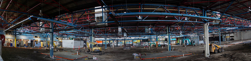 Prahran Market being renovated, June - Aug 2013.