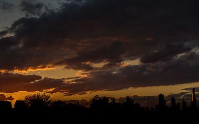 Sunset - view from Prahran