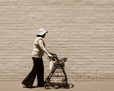 Lady with a trolley