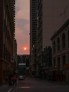 Pinkish Melbourne Sunset