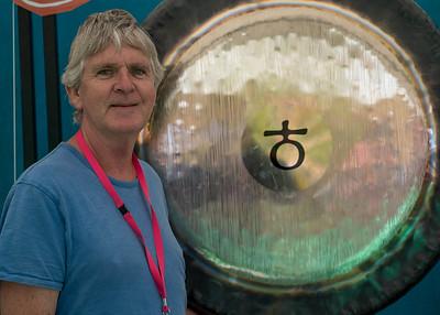 Michael Askill, artist musician who created the Gong Garden. http://summersaltfestival.com.au/event/gong-garden/