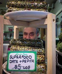Secret agent selling superfood