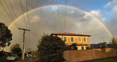 Rainbow in the suburbs
