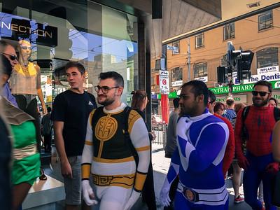 Superheroes on Chapel Street