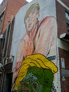 Graffiti of Donald Trump in Melbourne