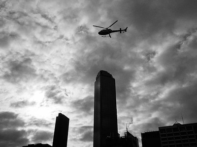 Helicopter over Melbourne