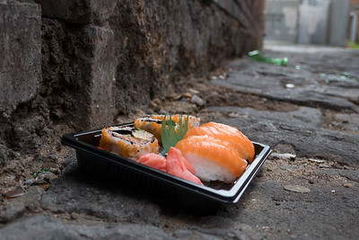 Something unexpected: sushi in an alley