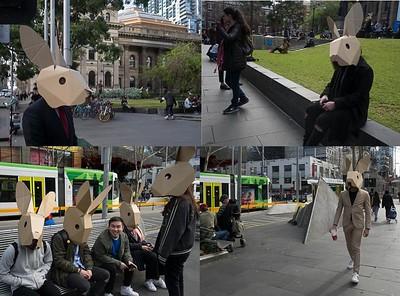 """""""Human rabbits"""", Melbourne"""