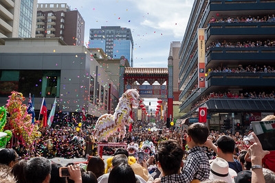 Chinatown comes a live with dragons and lions
