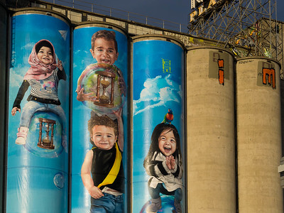 Street art by renown artist Julian Clavijo just popped up at the iconic Nylex silos