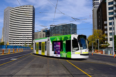 Tram on St Kilda Rd (day)