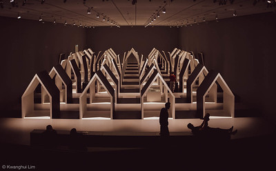Escher x Nendo exhibition at @NGVMelbourne.