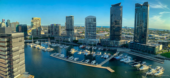 Docklands, evening panorama.