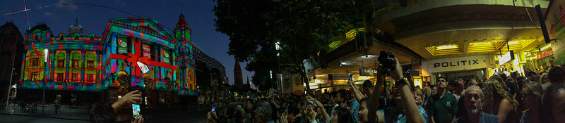 The crowd at Melbourne Town Hall