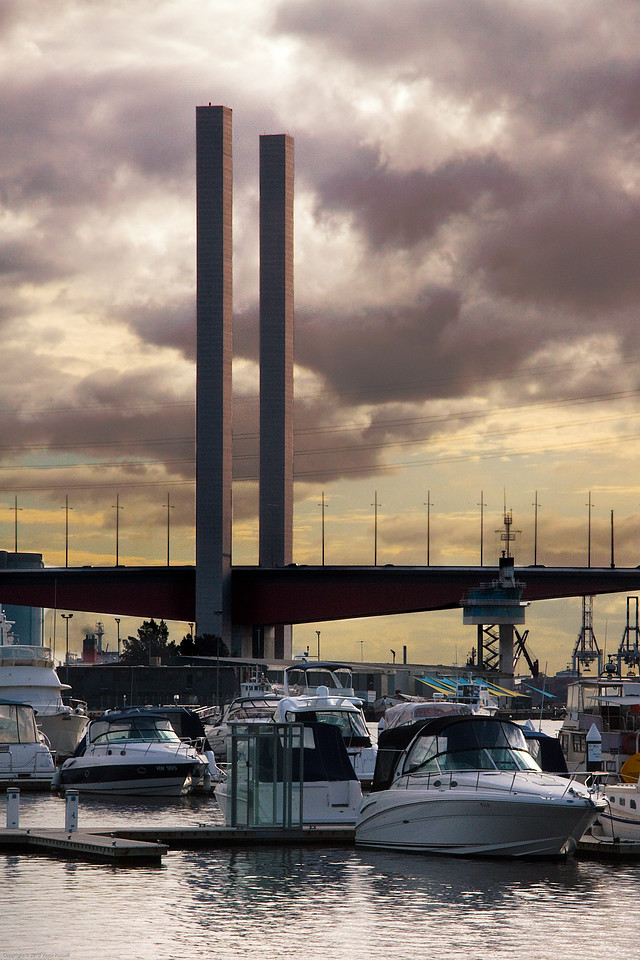 The Bolte Bridge from Docklands, Melbourne, Australia