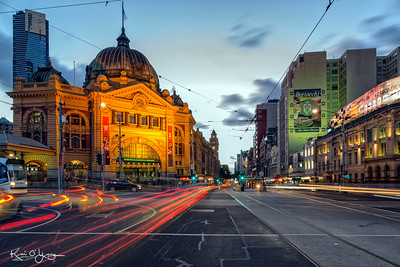 Flinders St lights