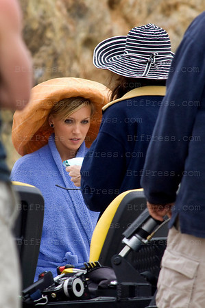 "Katie Cassidy during the set of ""Melrose Place"" in Malibu."