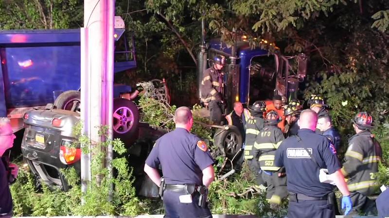 Melville Accident Tractor Trailer vs SUV- Paul Mazza