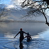 Winter wild swimming Bassenthwaite