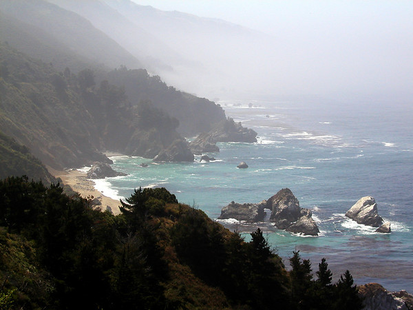 A beach on the Big Sur
