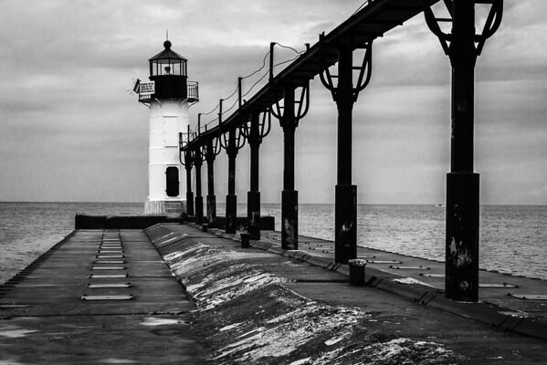 St  Joe Harbor North Pier Light, Mi 120809-15 reduced size