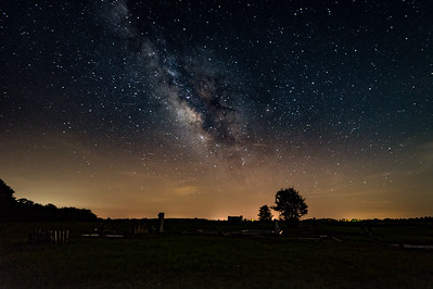 Milky Way over Harrison Cemetary