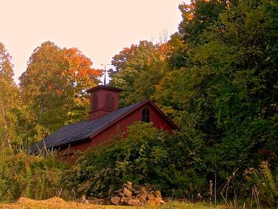 Red Barn in Woods - FAA