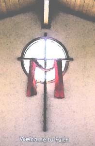 Transparency Inside cross paint fresco