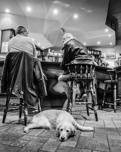 Three Friends in the Pub - Clifden, Ireland